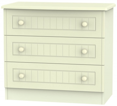 Warwick Cream Chest of Drawer - 3 Drawer