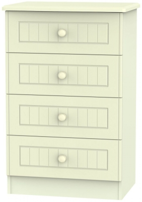 Warwick Cream Chest of Drawer - 4 Drawer Midi