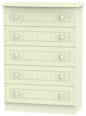 Warwick Cream Chest of Drawer - 5 Drawer