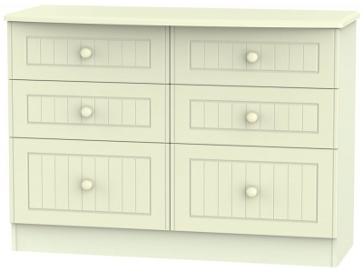Warwick Cream 6 Drawer Midi Chest