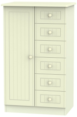 Warwick Cream 1 Door Children Wardrobe