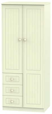 Warwick Cream Combination Wardrobe - 2ft 6in