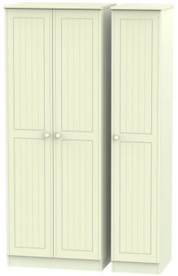 Warwick Cream Triple Wardrobe - Tall Plain