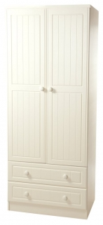 Warwick Cream Wardrobe - 2ft 6in 2 Drawer