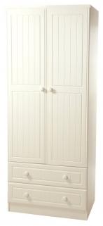 Warwick Cream Wardrobe - 2ft 6in 2 Drawer