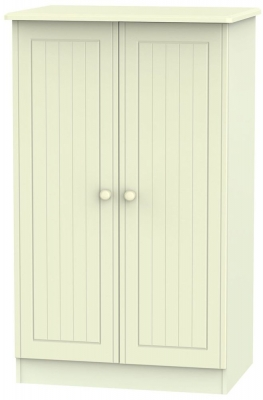 Warwick Cream Wardrobe - 2ft 6in Plain Midi