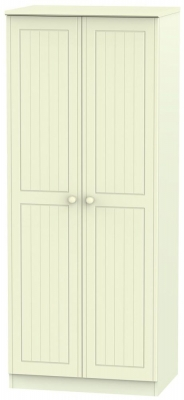 Warwick Cream Wardrobe - 2ft 6in Plain