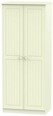 Warwick Cream 2 Door Plain Wardrobe