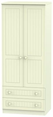 Warwick Cream 2 Door 2 Drawer Wardrobe