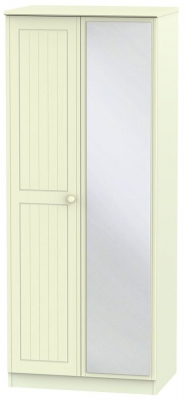 Warwick Cream 2 Door Mirror Wardrobe