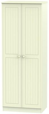 Warwick Cream 2 Door Tall Plain Wardrobe
