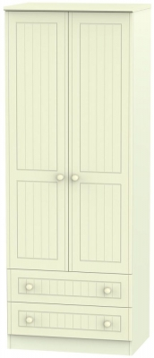 Warwick Cream Wardrobe - Tall 2ft 6in with 2 Drawer