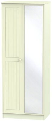 Warwick Cream 2 Door Tall Mirror Wardrobe
