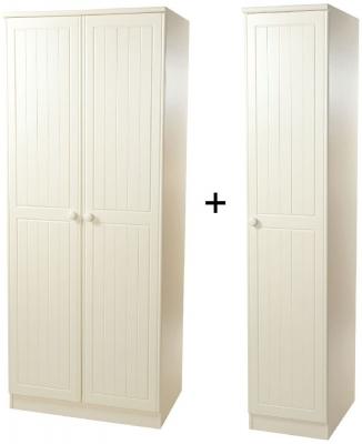 Warwick Cream Wardrobe - Triple Plain