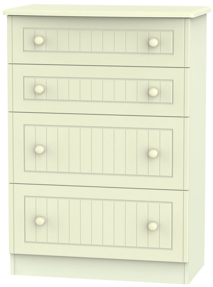 Warwick Cream Chest of Drawer - 4 Drawer Deep