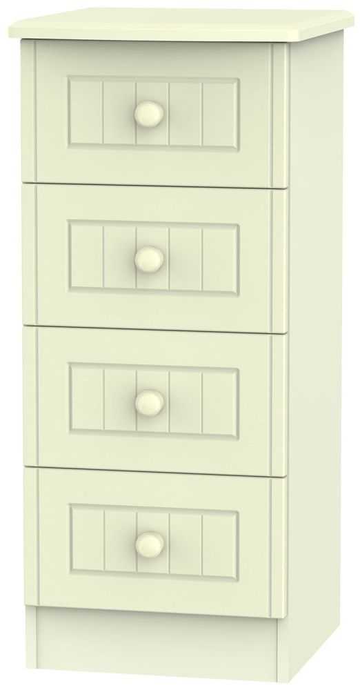 Warwick Cream Chest of Drawer - 4 Drawer Locker
