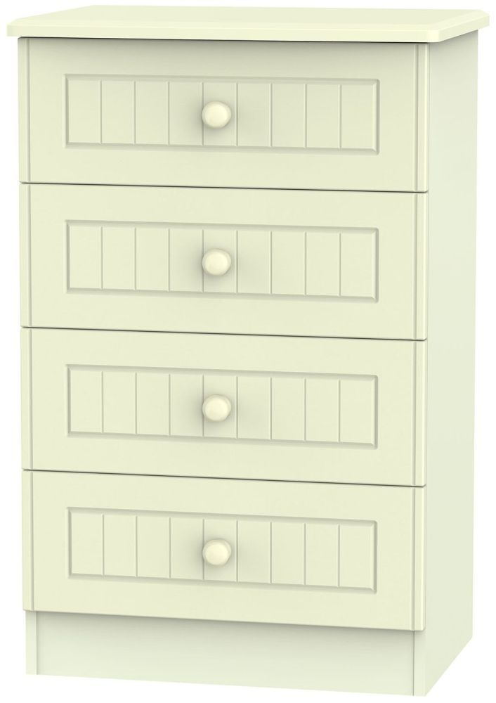 Warwick Cream 4 Drawer Midi Chest
