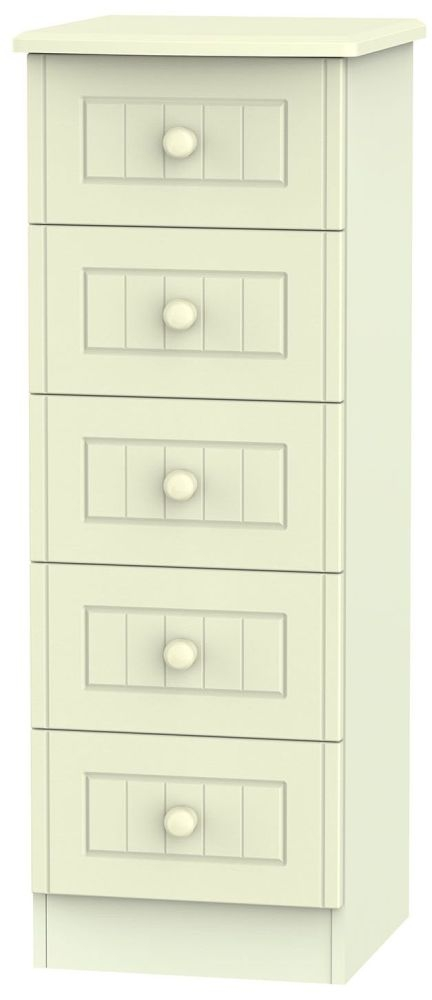 Warwick Cream Chest of Drawer - 5 Drawer Locker