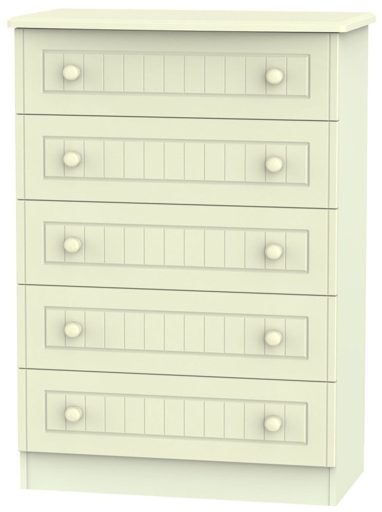 Warwick Cream 5 Drawer Chest