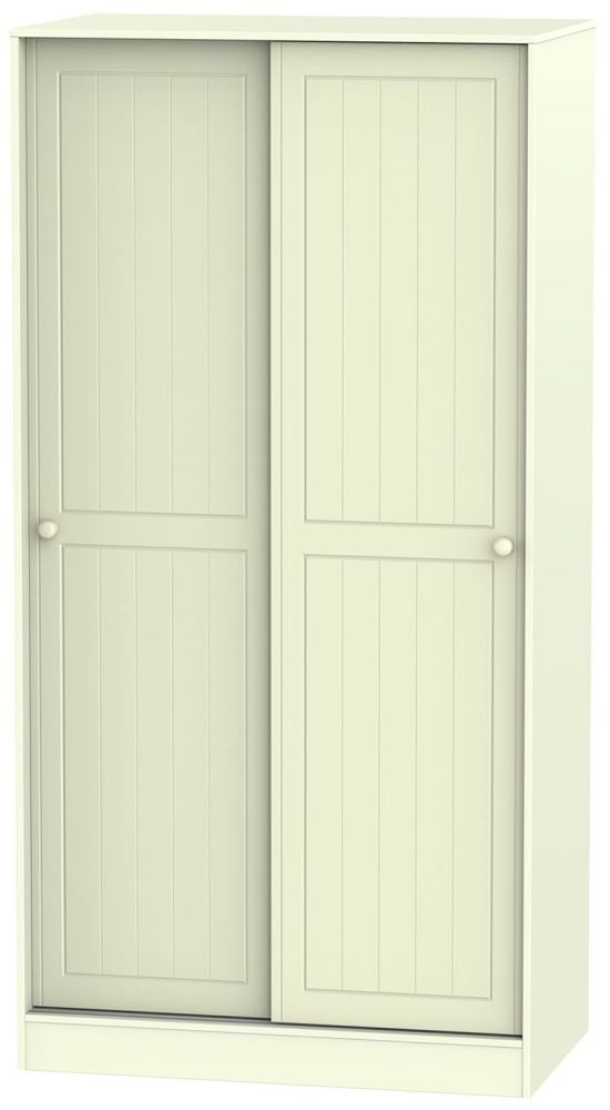 Warwick Cream 2 Door Wide Sliding Wardrobe