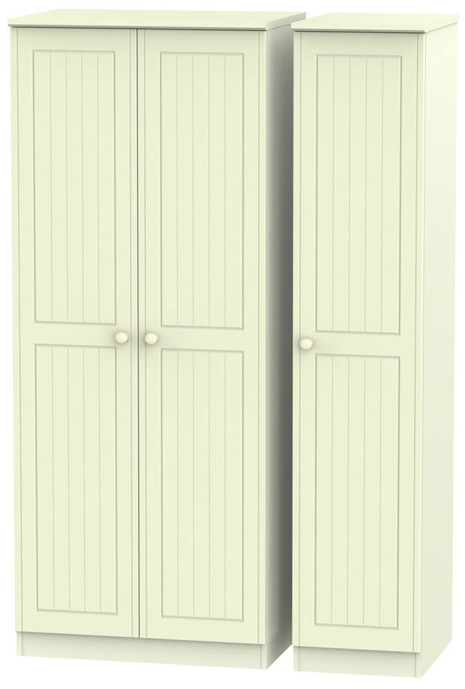 Warwick Cream Triple Plain Wardrobe