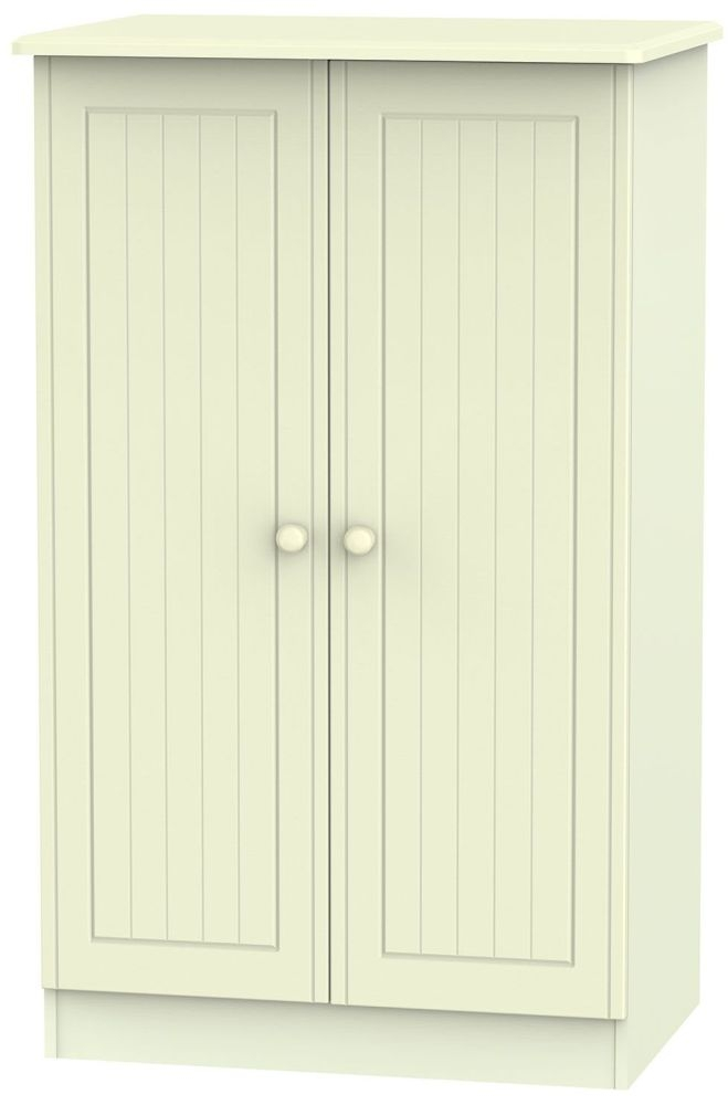 Warwick Cream 2 Door Plain Midi Wardrobe