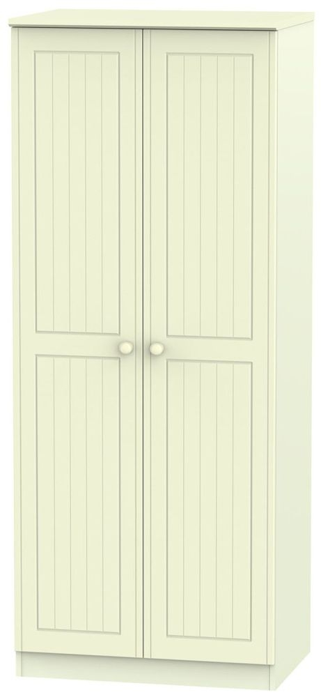 Warwick Cream 2 Door Plain Wardrobe