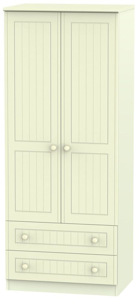 Warwick Cream Wardrobe - 2ft 6in with 2 Drawer