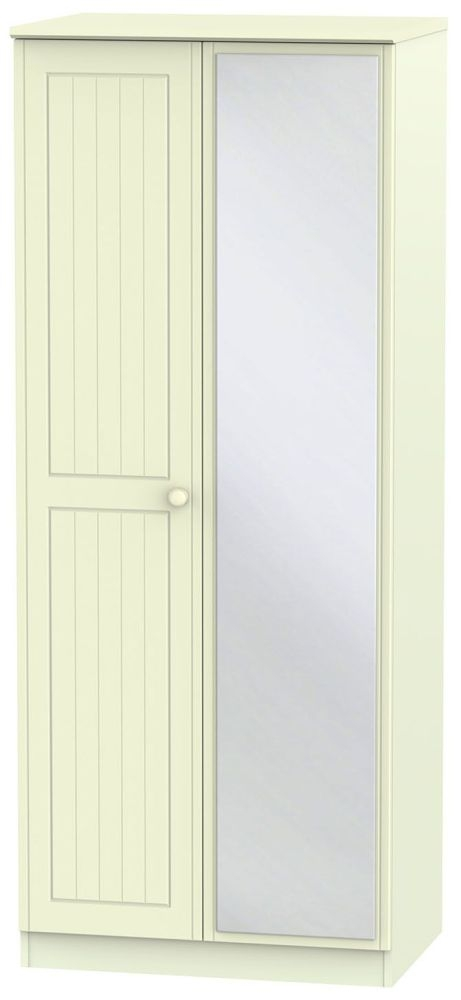 Warwick Cream Wardrobe - 2ft 6in with Mirror