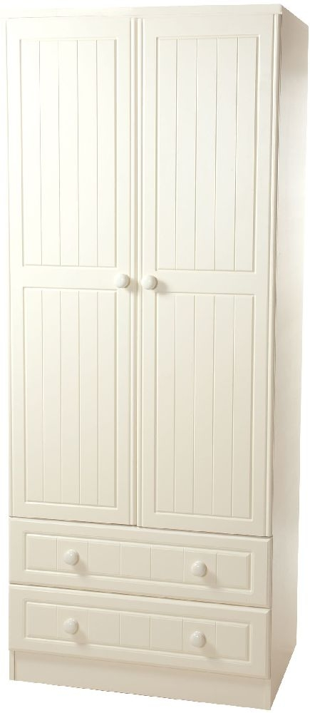 Warwick Cream Wardrobe - Tall 2ft6in 2 Drawer