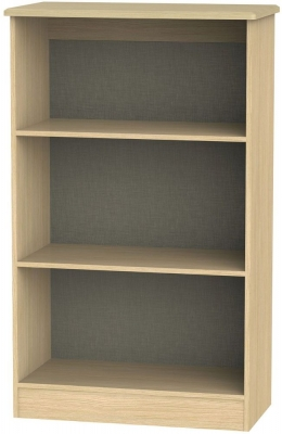 Warwick Light Oak Bookcase - 2 Shelves