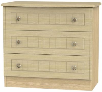 Warwick Light Oak Chest of Drawer - 3 Drawer