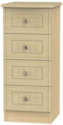Warwick Light Oak Chest of Drawer - 4 Drawer Locker