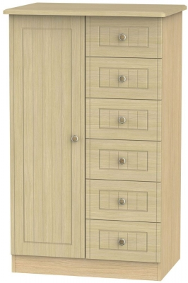 Warwick Oak 1 Door Children Wardrobe