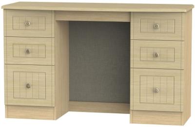 Warwick Oak Double Pedestal Dressing Table