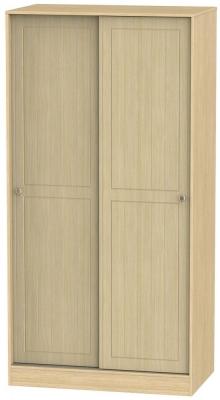 Warwick Oak 2 Door Sliding Wardrobe