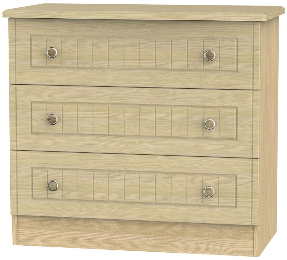 Warwick Light Oak Chest of Drawer - 3 Drawer