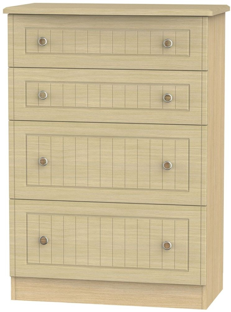 Warwick Oak 4 Drawer Deep Chest
