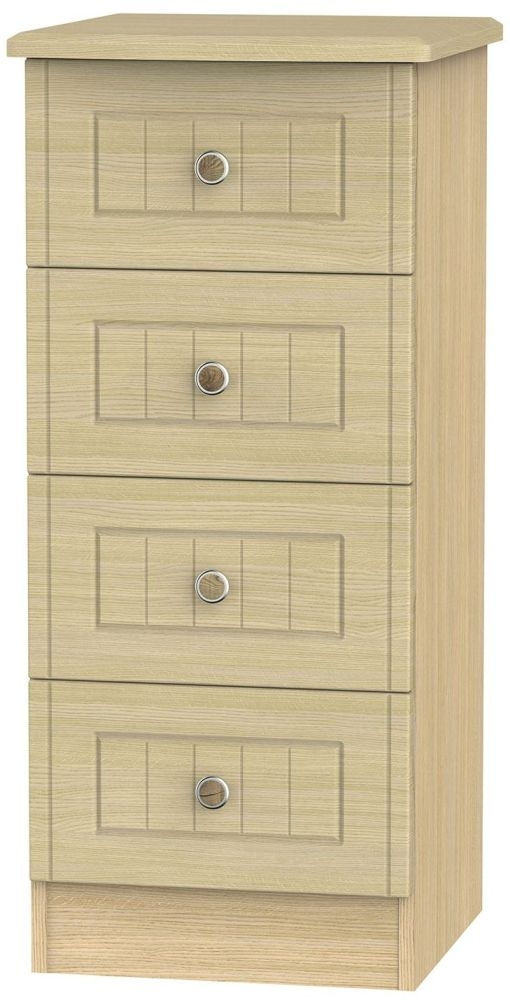 Warwick Light Oak Chest of Drawer - 4 Drawer Locker
