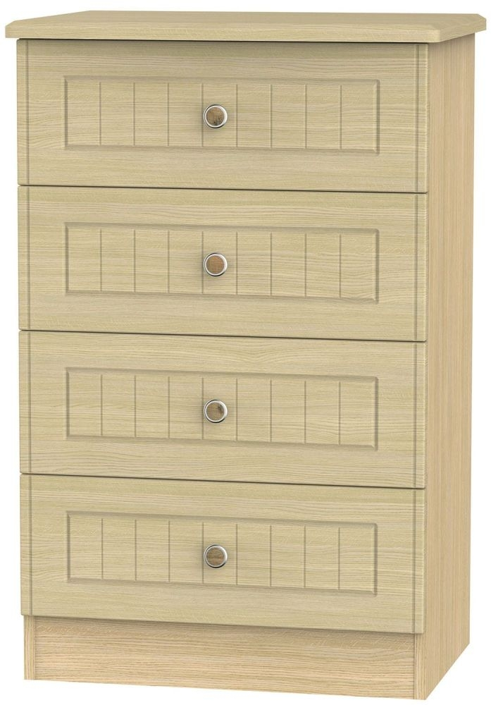 Warwick Oak 4 Drawer Midi Chest