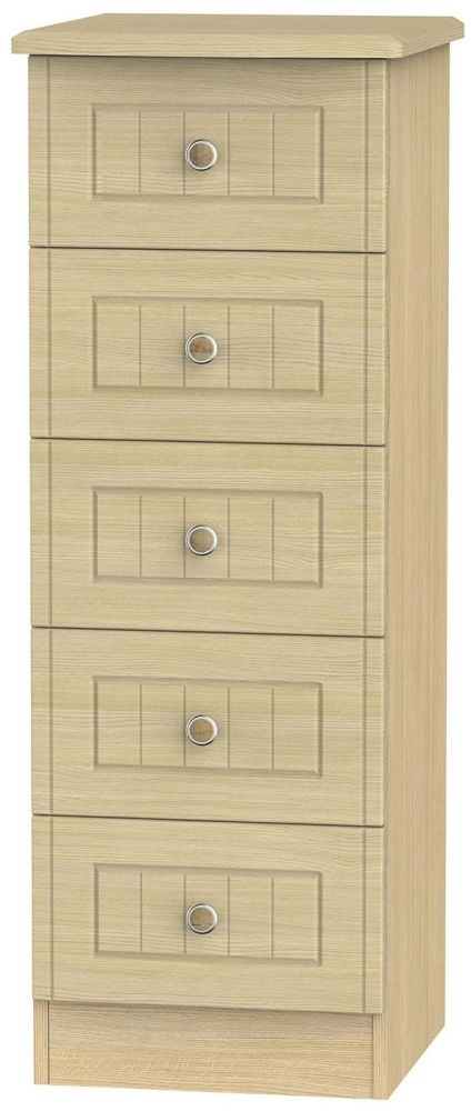 Warwick Light Oak Chest of Drawer - 5 Drawer Locker