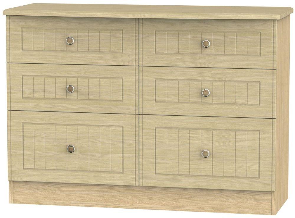 Warwick Oak 6 Drawer Midi Chest