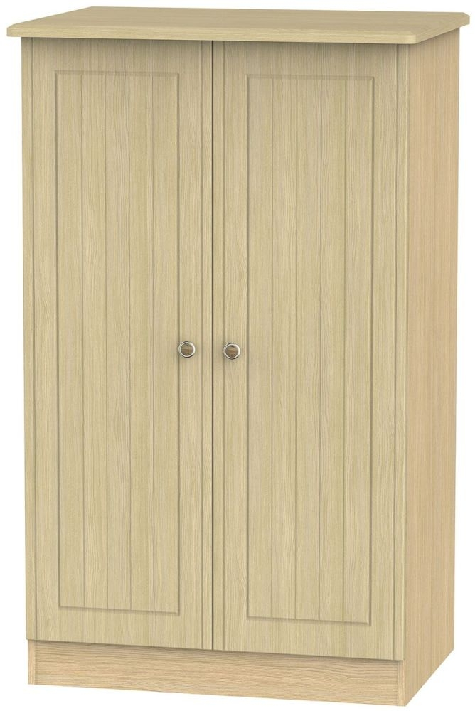 Warwick Light Oak 2 Door Plain Midi Wardrobe
