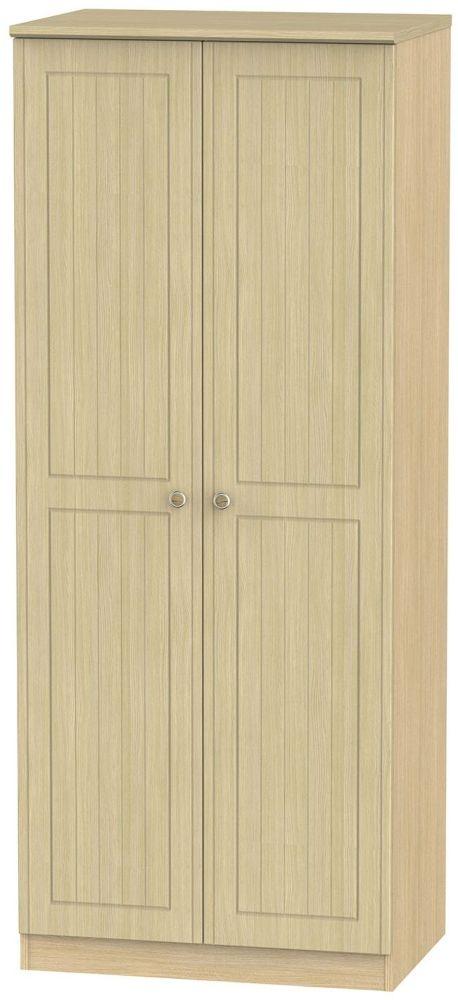 Warwick Oak 2 Door Plain Wardrobe