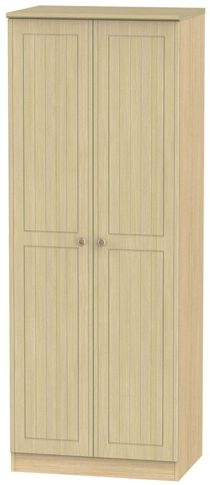 Warwick Oak 2 Door Tall Hanging Wardrobe