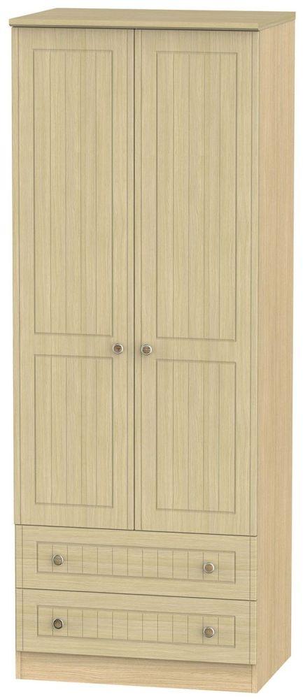 Warwick Oak 2 Door Tall Wardrobe