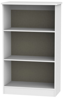 Warwick White Bookcase - 2 Shelves
