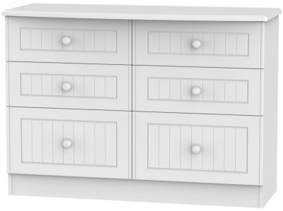 Warwick White 6 Drawer Midi Chest