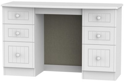 Warwick White Dressing Table - Knee Hole Double Pedestal