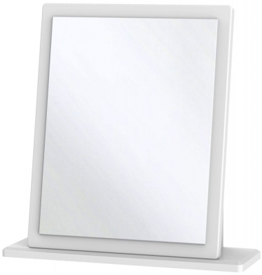 Warwick White Small Mirror